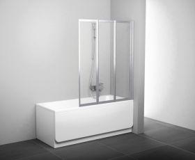 Шторка на ванну Ravak VS3 130 белая+рейн