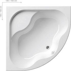 Акриловая ванна Ravak Gentiana 150х150 без гидромассажа