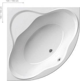 Акриловая ванна Ravak New Day 140х140 без гидромассажа